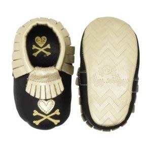 Itzy Ritzy Tokidoki Leather Mocassins Gold NIB